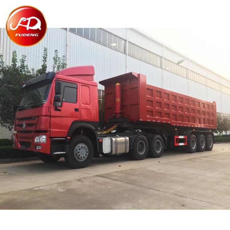 4 Axles U shape 45CBM Dump Semi Trailer-China Fudeng